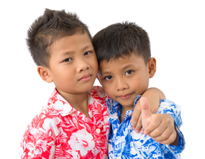 Two Boys Aloha Shirts